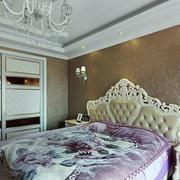 120平米房屋欧式卧室背景墙装饰