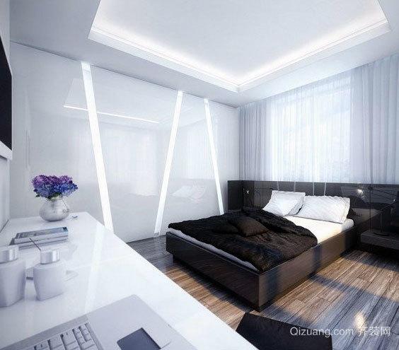 180平米白色简明经典黑别墅后现代化独栋线条一别墅层庭院图片