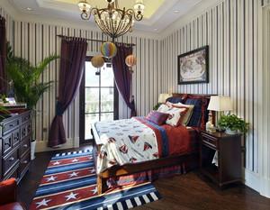 美式卧室样板房装饰