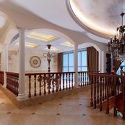 欧式风格别墅大型原木吊顶