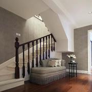 后现代风格原木楼梯扶手装饰