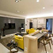 两室一厅客厅地毯装饰