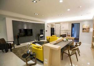 120平米洁净无尘的两室一厅装修效果图