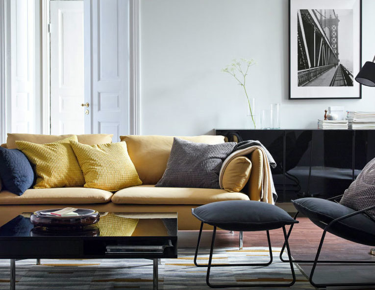 120平米时尚简约客厅设计:客厅休闲沙发装修效果图