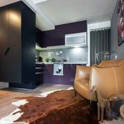 后现代风格公寓客厅地毯效果图