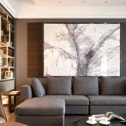 后现代风格新房沙发背景墙