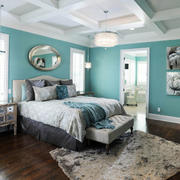 卧室简约风格背景墙装修