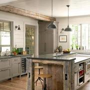 美式混搭风格厨房效果图