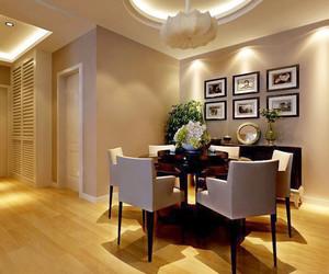 中性冷色色调的后现代风格餐厅装修效果图