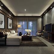 新中式风格新房客厅电视背景墙