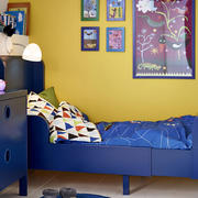 美式简约风格儿童房床头设计