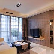两室一厅简约风格客厅电视背景墙