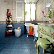 简约风格卫浴拼色瓷砖
