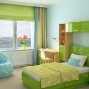 果绿色清新儿童房装饰