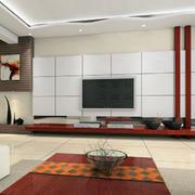 日式风格客厅石膏板背景墙