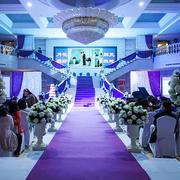 大型欧式紫色浪漫婚礼场景设计