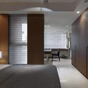 一室一厅卧室床饰设计