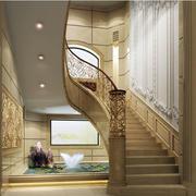 简欧风格旋转楼梯效果图
