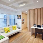 家具客厅浅色地板装饰