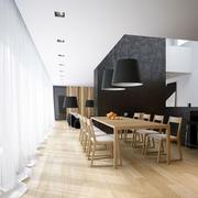 loft风格原木色桌椅装饰
