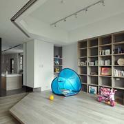 老房后现代风格整体书柜装饰