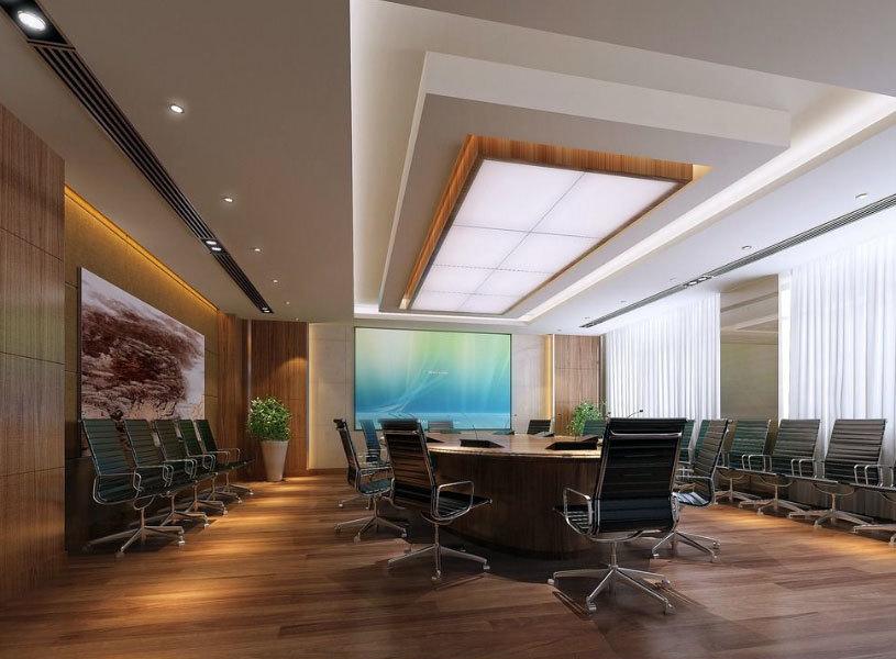 群英汇聚地:都市大型公司会议室设计效果图鉴赏