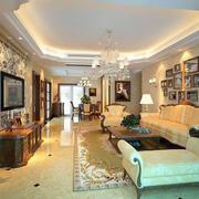 欧式简约风格客厅沙发背景墙