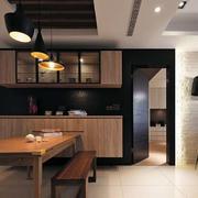 日式新房原木餐桌装饰