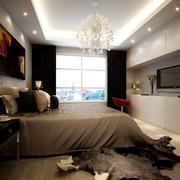 后现代风格卧室窗户效果图