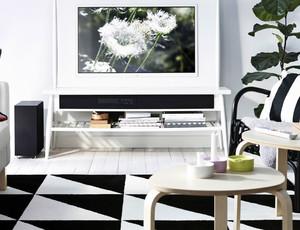120平米北欧清新风格电视背景墙装修效果图