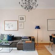 后现代风格客厅创意灯饰效果图