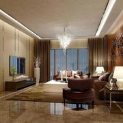 后现代风格简约客厅吊顶