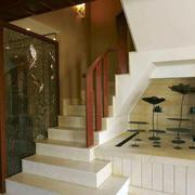 简约两层别墅楼梯装饰