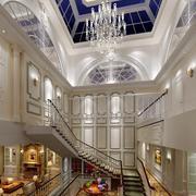 欧式别墅高挑客厅吊顶设计