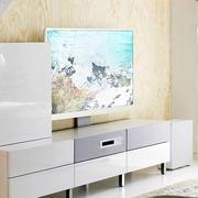 浅色电视背景墙墙纸装饰
