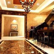 地下室客厅精美吧台装饰