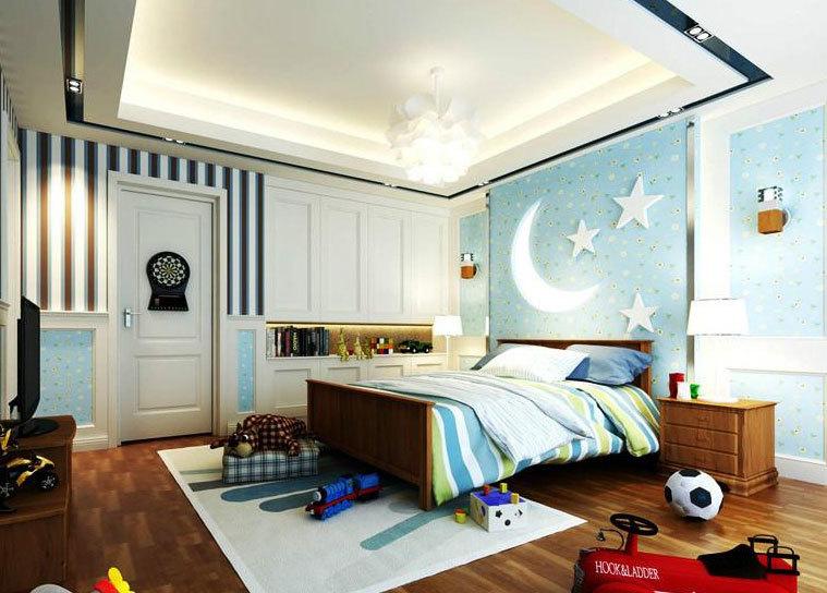 气氛欢快、设计精巧的大户型都市儿童房设计装修效果图实例鉴赏