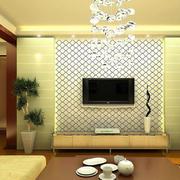 简约密集式背景墙设计