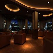 现代简约风格咖啡厅效果图