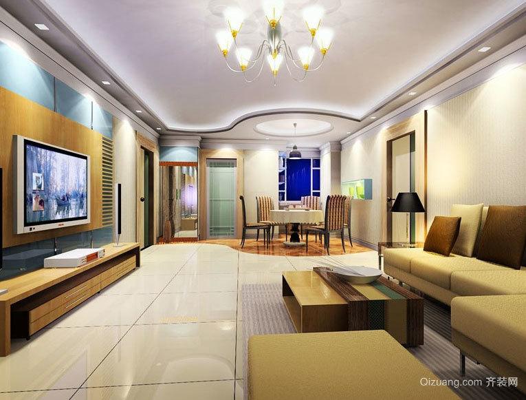 专业设计20年:好品质欧式客厅大自然地板装修效果图实例欣赏