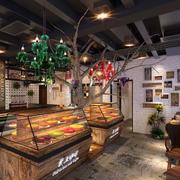美式复古原木蛋糕店装饰