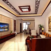 中式风格沙发背景墙设计
