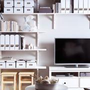 北欧风格电视背景墙置物架装饰
