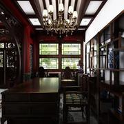 中式四合院客厅吊顶效果图