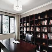 中式书房整体书柜设计