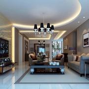 两室一厅后现代风格吊顶