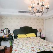 欧式田园风格卧室背景墙