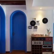 地中海风格三室一厅玄关门饰设计
