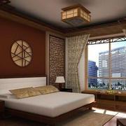 中式卧室复古灯饰装饰