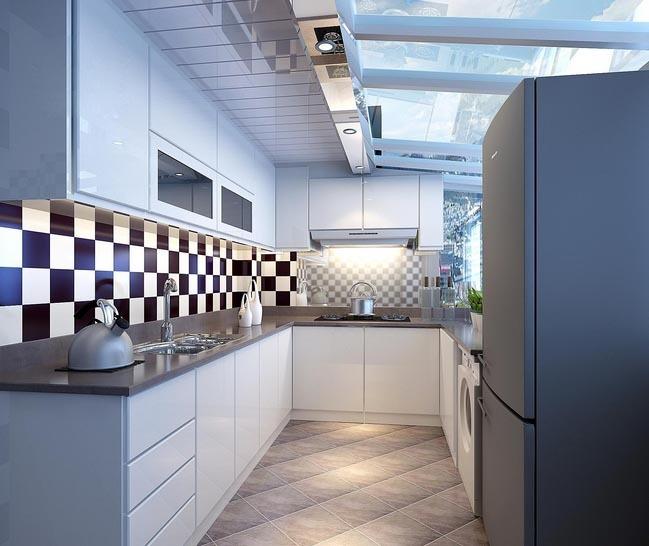 都市精致的大户型家居厨房橱柜装修效果图